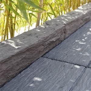 Bordure Bois Leroy Merlin : bordure droite morbihan pierre reconstitu e gris x l ~ Dailycaller-alerts.com Idées de Décoration