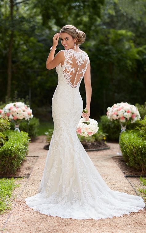 Wedding Dresses Vintage Lace Trumpet Wedding Dress