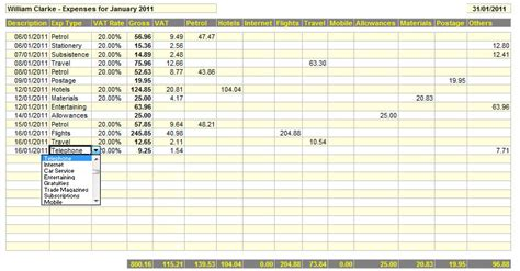 business expenses template business expenses spreadsheet