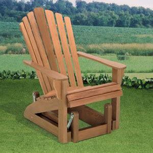 plan adirondack glider chair