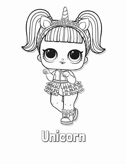 Lol Coloring Doll Pages Unicorn Worksheets Lottalol