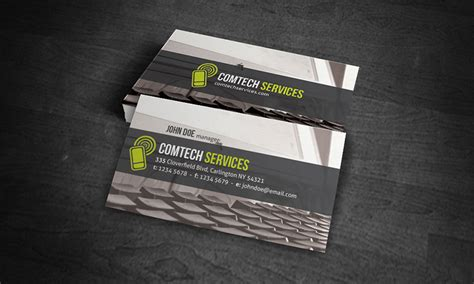 pc notebook business card template   ct