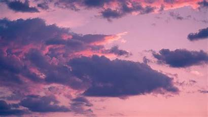 Clouds Sky Sunset Porous Background Monitor Ultrawide