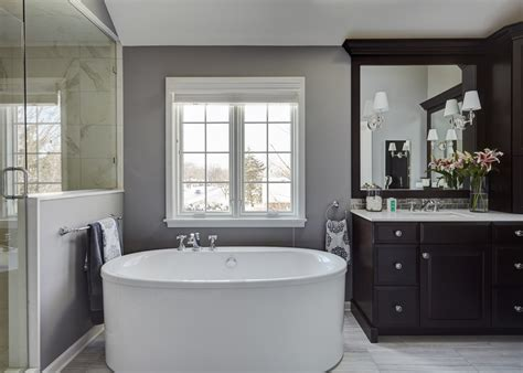 Spa Master Bathroom by A Spa Like Master Retreat The Kitchen Studio Of Glen Ellyn