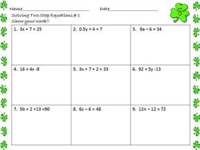 Worksheets 2 Step Equations Worksheet solving two step equations worksheet 7th grade delibertad delibertad