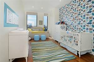 25 ideen fur babyzimmer deko und kreative wandgestaltung With markise balkon mit tapete für babyzimmer junge