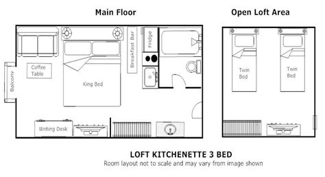 pictures of loft beds banff hotel rooms loft with kitchenette suites
