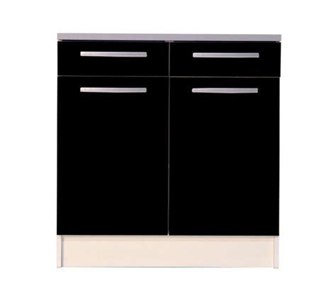meuble de cuisine style industriel meuble bas de cuisine noir 80 cm 2 portes avec plan de travail meuble et décoration marseille