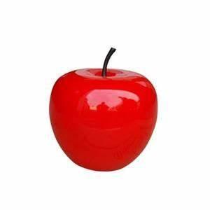 Pomme Rouge Deco : objet d coratif pomme en polyresine 25 cm rouge d co deco objet d coration et objet deco ~ Teatrodelosmanantiales.com Idées de Décoration