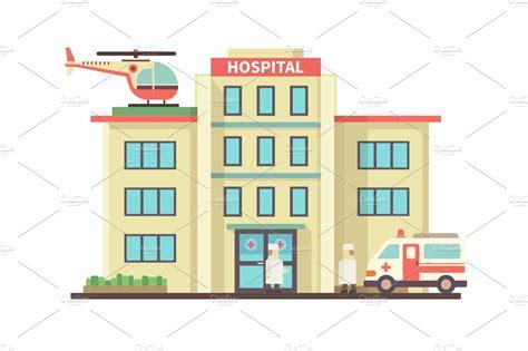 hospital clipart hospital building illustrations creative market