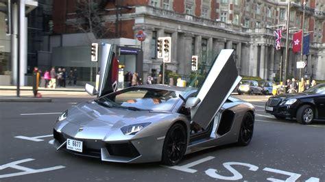 Arab Lamborghini Aventador Driving with Doors up & Crazy ...
