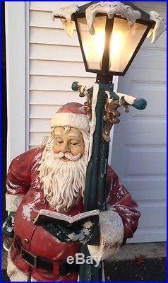 ft tall outdoor lighted vintage heirloom santa