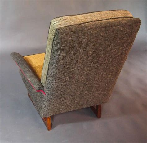 gray armchair with ottoman gray tweed mid century armchair and ottoman for sale at
