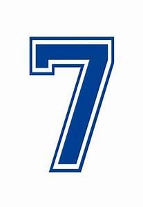 Varsity Number 7 (Seven) Make Your Own Banner Sign Poster ...