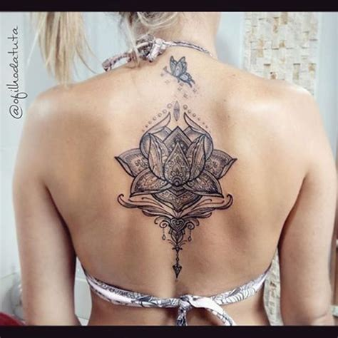 mandala rücken lotusbl 252 ten r 252 cken suche tatted tattoos unalome mandala design