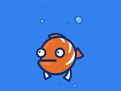 Fish Funny Cartoon Animated Fishing Dribbble Water