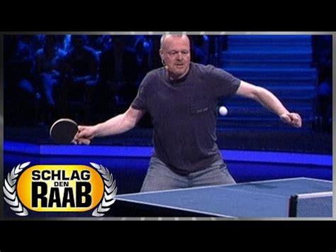 spiel  tischtennis schlag den raab  youtube