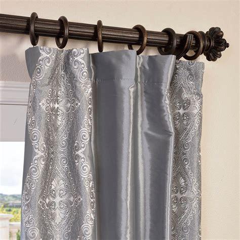 faux silk taffeta drapes curtains buy chai silver embroidered faux silk taffeta curtain