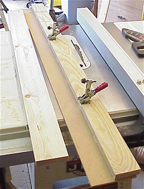 easy solution  jointing   tablesaw