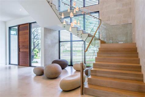 escalier bois garde corps verre