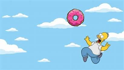 Simpson Homer Donut Chasing Anime