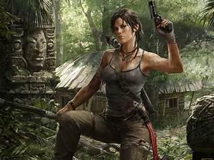 Video Games Lara Croft Tomb Raider Guns - WallDevil