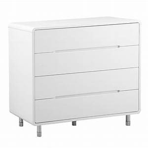 Notch Wide Chest Of Drawers White Dwell