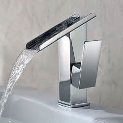 bathroom and kitchen faucets single handle contemporary solid brass waterfall bathroom sink faucet modern bathroom sink