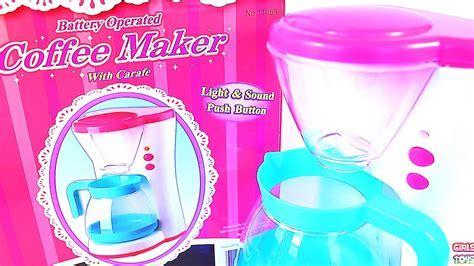 Girls Toy Kitchen Coffee Maker Machine Light & Sound