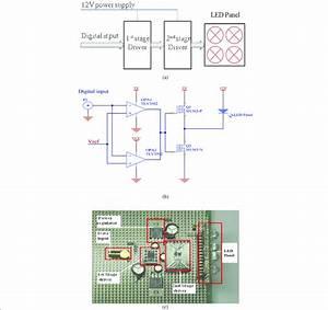 Led Driver   A  Block Diagram   B  Circuit Diagram  And  C