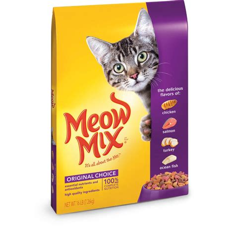 food names for cats tripleclicks com meow mix original choice dry cat food 16 pounds