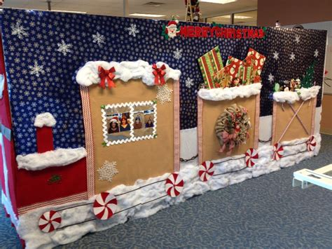 cubicle christmas decorations crafts pinterest