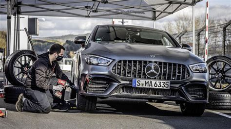 Mercedes claims the gt 43 will reach 60 mph from rest in just 4.8 seconds. 2021 Mercedes-AMG GT 4-door reclaims Nürburgring lap record