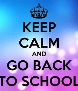 keep calm and go back to school poster saradostalova