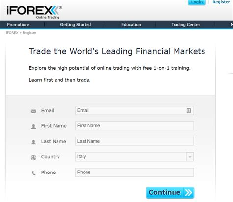 iforex login start your stock trading after 3 minute