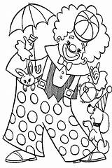 Clown Coloring Pages Carnival Pennywise Circus Animal Colouring Food Playing Popcorn Happy Getcolorings Colorings Printable Print Colorir Getdrawings Para Desenhos sketch template