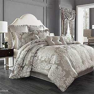 j queen new yorktm chandelier comforter set in silver With bed linens nyc