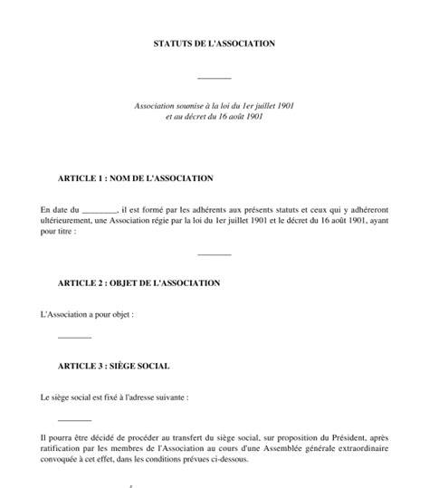 Modification De Statuts by Modification Statuts Association Loi 1901