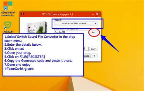 nch software sound switch registration key