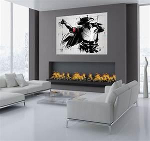 Tableau Salon Moderne : tableau design moonwalk ~ Farleysfitness.com Idées de Décoration