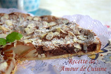 tarte poires et chocolat de stephane glacier amour de