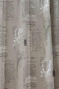 Leinen Gardinen Weiß : vorhang gardine senschal leinen manuskript 245cm oder wunschl nge fertiggardinen senschals ~ Whattoseeinmadrid.com Haus und Dekorationen