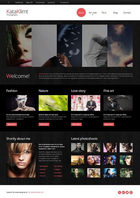 bootstrap responsive template  photography site