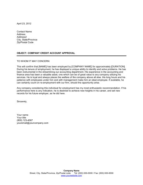 letter of employment free printable letter of employment verification form 89654