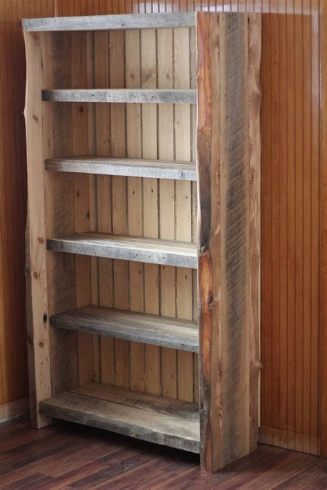 custom  reclaimed wood bookcase wood bookcase reclaimed wood bookcase wood bookshelves