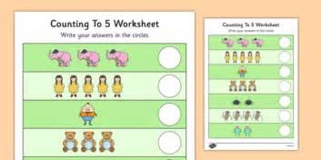 nursery rhyme themed counting to 5 worksheet nursery