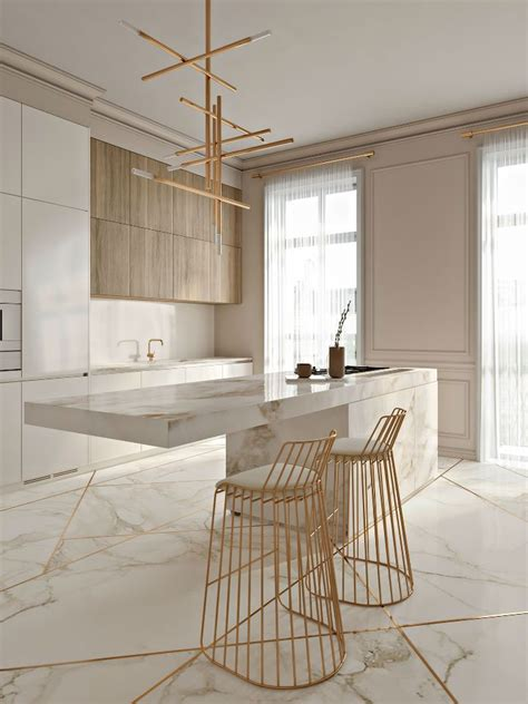 Amazing Kitchen Design With Touches Of Gold by Stunning Kitchen With Gold Touches Kitchen
