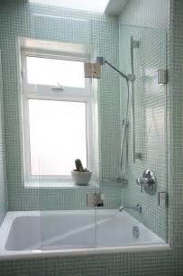 Glass Bathtub by 105 0 Custom Double Tub Screen With Fixed Wall Brackets