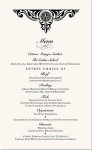 6 fancy menu template procedure template sample With fancy restaurant menu template