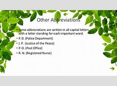 Abbreviations Rules and Guidelines